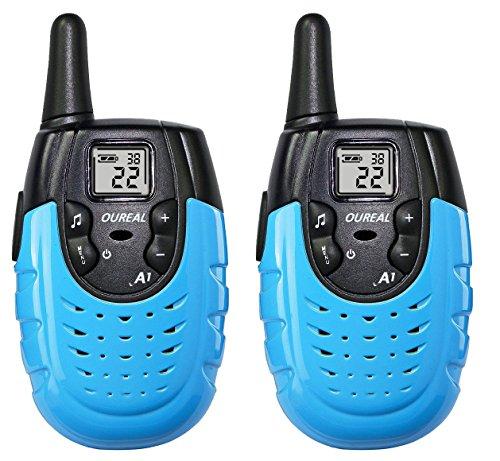 OUREAL Walkie Talkies for Kids Long Distance Two-Way Radio 2 Packs Blue