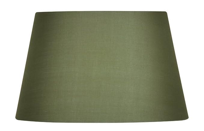 15 cm Oaks Lighting Lampenschirm aus Baumwolle zylindrisch gr/ün