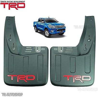 TRD Rear Mud Flaps Mudflaps Splash Guard Genuine Parts OEM For Toyota Hilux Revo SR5 M70 M80 2015 2017 4x4 4x2 2 Door 4 Door Pick-Up Truck