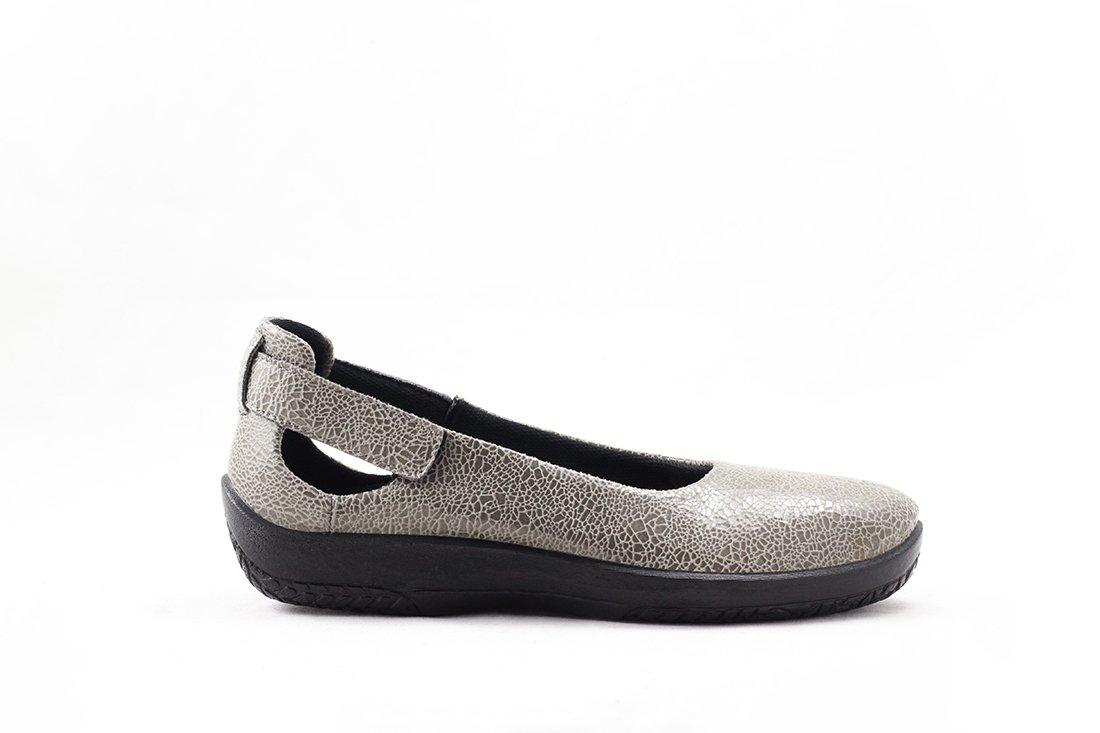 Arcopedico 4464 L58 Lytech Womens 1'' Heel, Medium Width All-Day Comfort Slip-On Sneaker, Grey Crackle, Size-39 EURO