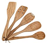 "Handmade Utensil Set. Wooden Cute Kitchen Utensils 12""/30 cm. Oak Wood Kitchen Supplies & Utensils Set of 5"