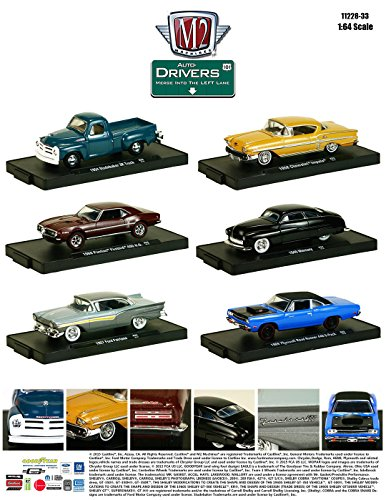 New 1:64 AUTO-DRIVERS SERIES 33 ASSORTMENT Diecast Model Car By M2 Machines Set of 6 Cars