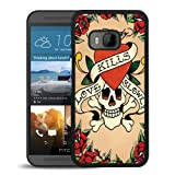 HTC ONE M9 Case,Ed Hardy 11 Black Shell Case for HTC ONE M9,Unique Cover