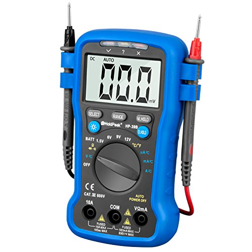 HOLDPEAK 39B Digital Multi Tester With Diode Voltage Drop - Measuring DC and AC voltage, current, resistance, temperature, battery test In School, Laboratory, And Other Social Field
