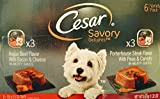 Cesar Savory Six Can Variety Pack – Angus Beef Flavor with Bacon & Cheese (3) & Porterhouse Steak Flavor with Peas & Carrots (3) For Sale
