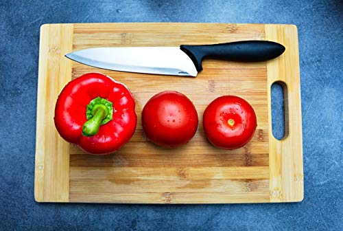 Home Comforts Framed Art for Your Wall Vegetables Cutting Board Tomatoes Knife Pepper Vivid Imagery 10 x 13 Frame