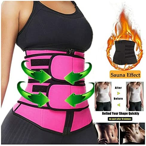 DIIIBARLORY SweatFIT Adjustable Waist Slimming Trimmer - Original Neoprene Sweat Waist Trainer Corset Trimmer Belt for Women Weight Loss, Waist Cincher Shaper Slimmer 3