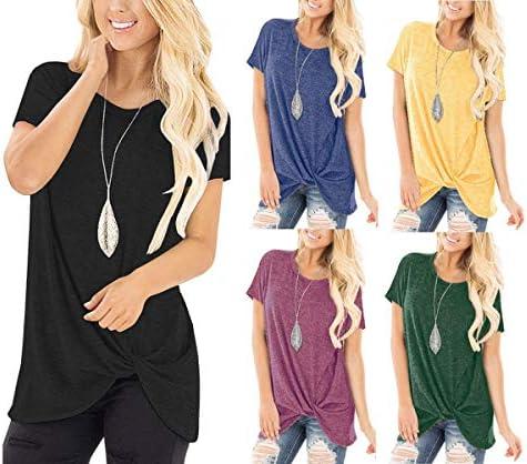 Pomarańczowa Designe damska koszulka z długim rękawem sweter okrągły dekolt koszula bluza paski asymetryczna luźna bluza jumper jednokolorowa dziergana gÓrna część topu jesie&