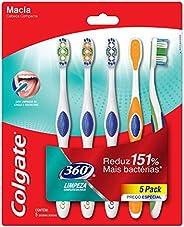 Escova Dental Colgate 360º 5unid Promo c/ Desconto