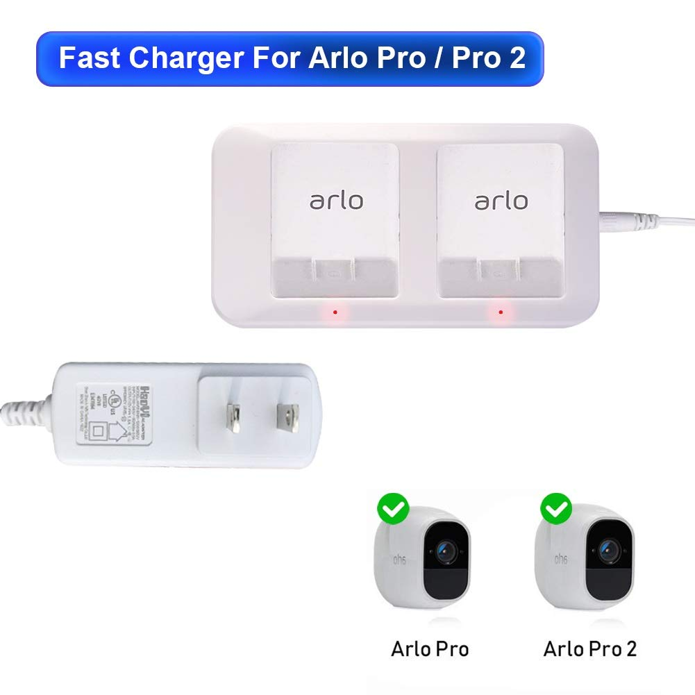 Arlo pro Battery Charger Station Arlo pro 2 Battery Charger Station for Arlo Pro/Arlo Pro 2 / Arlo Go Camera with Adapter by WeHaoYi by WeHaoYi