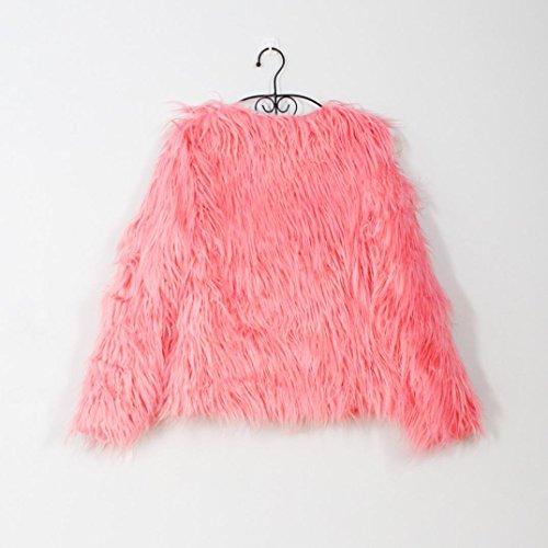 de Mujer Abrigo Parka para Abrigo Sintética Rosa Mujer KaloryWee de Invierno Cálida Chaqueta de Piel yAY4nqpU