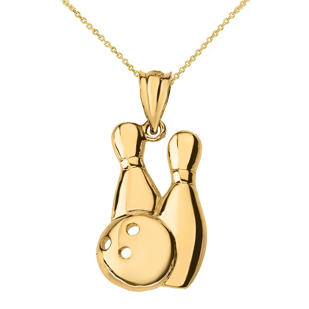Amazon com: Bowling Pins and Ball Sports Pendant Necklace