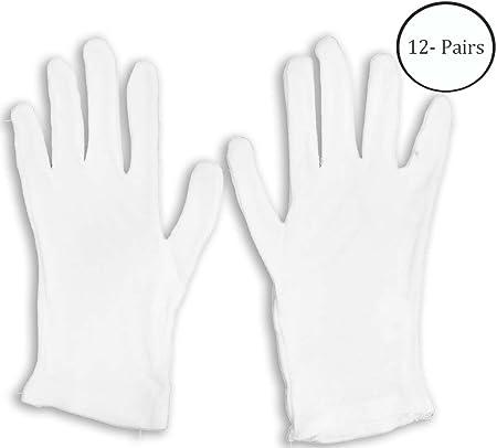 Men Size 12 Pairs Inspection Gloves White Cotton Lisle