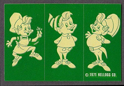 ies Snap Crackle Pop crack-n-peel stickers 1971 green (Kelloggs Snap)