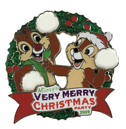 Disney Pin - Very Merry Christmas Party 2009 - Chip and Dale - LE - 2009 Chip