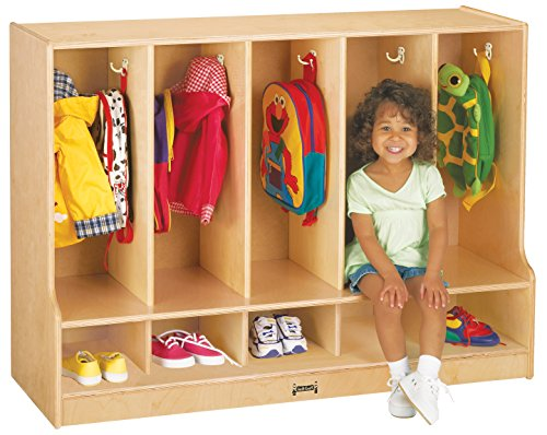 Jonti-Craft 6684JC Toddler 5 Section Coat Locker with Step without Trays ()