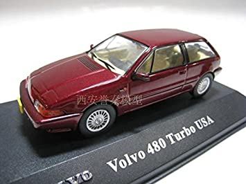 Amazon.com : ATLAS 1/43 VOLVO 480 TURBO USA Volvo 480 alloy car models : Baby