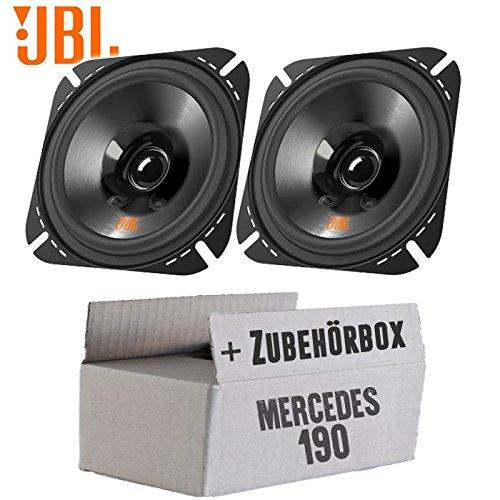 10cm Koax Auto Einbauzubeh/ör 2-Wege Lautsprecher Boxen JBL Stage 402 JUST SOUND best choice for caraudio W201 Front Einbauset f/ür Mercedes 190