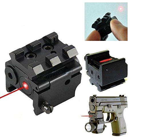 (360 Tactical Mini Adjustable Compact Red Dot Laser Sight With Detachable 20mm Rail For Pistol Air-gun Rifle Hunting Accessories Pistol Sight handgun laser Sight)