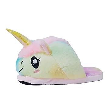 jysport unicornio Pantuflas Zapatillas de felpa ligero para mujer para mujer, diseño de lunares,