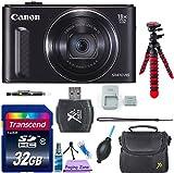Canon PowerShot SX610 HS Digital Camera (Black) - Wi-Fi Enabled w/ 8pc Accessory Bundle