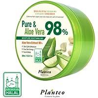[PLANTCO] Pure & Aloe Vera 98% Moisture Soothing Gel 300ml / Halal Certified/Face, Body, Hair Moisturizing
