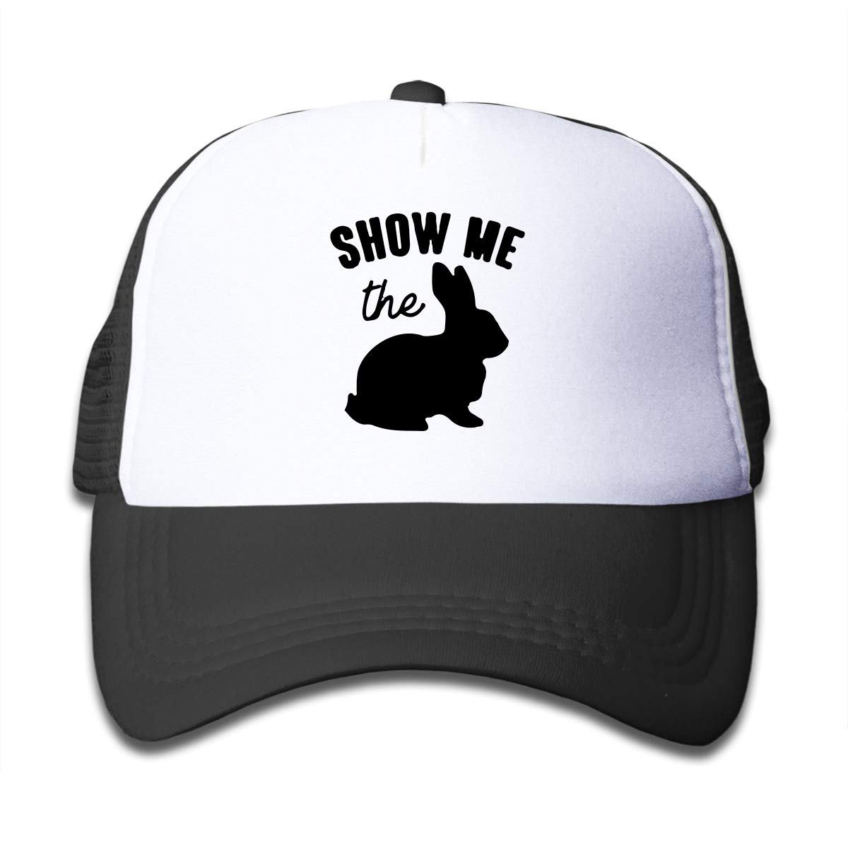 Show Me The Bunny Easter-1 Kids Girls Boys Mesh Cap Adjustable Hip Hop Caps