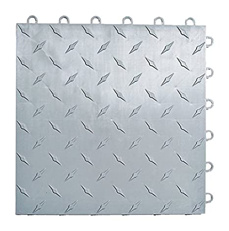 Speedway Interlocking Garage Flooring 6 LOCK Diamond Tile Black 25 pack
