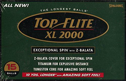 - Top Flite XL 2000 Golf Balls, 15 Balls