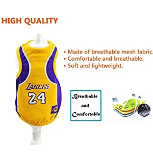 Dog Clothes NBA Basketball T-shirt Dogs Costume Jersey for Cat Dog Pet Lakers