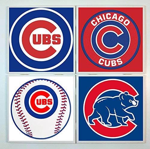 Chicago Cubs Coasters - set of 4 tile coasters - ()