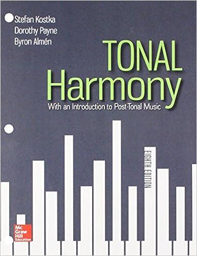 Gen Combo Looseleaf Tonal Harmony Connect Ac Workbook Tonal