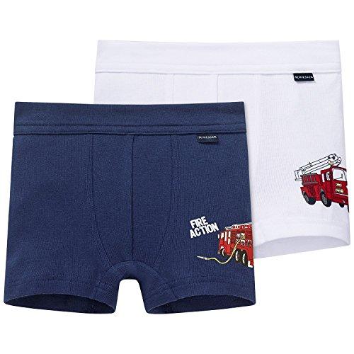 Schiesser Jungen Boxershorts 2pack Hip Shorts, 2er Pack, Mehrfarbig (Sortiert 1 901), 104