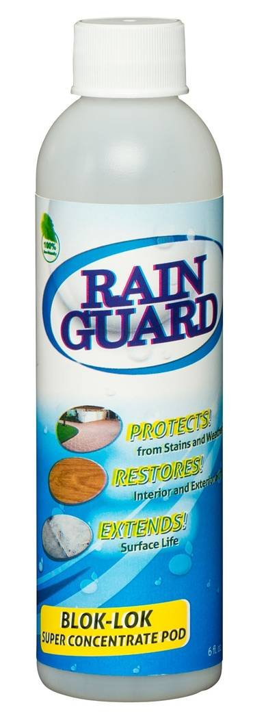 Rainguard Blok-lok ECO-POD CONCENTRATE Makes 1 Gal Clear Penetrating Silane Siloxane Professional Grade Water Repellent Sealer - Concrete, CMU, Block, Brick, Stucco, Stone for Vertical Applications, Apply Low Temp 35F, to New Concrete, 5 Yr Warranty