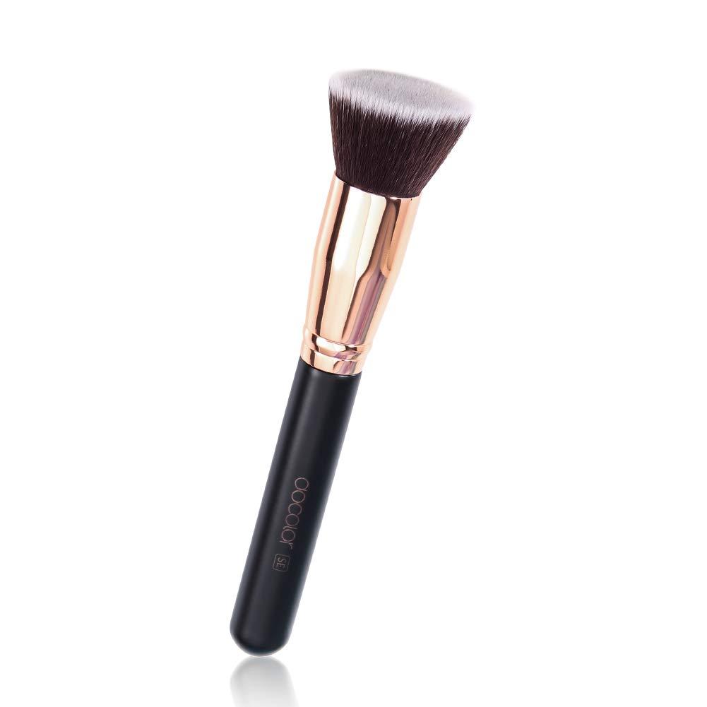 Foundation Makeup Brush Flat Top Kabuki Brushes Docolor Professional Face Make Up Brushes Liquid Blending Large Coverage Mineral Powder Makeup Tools