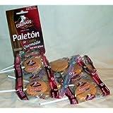 Coronado Paleton De Cajeta Quemada Mexican Goat Milk Candy Lollipops 10 Pcs