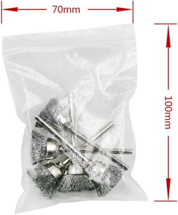 UKCOCO 15pcs Wire Wheel Brush Set Abrasive Polishing Accessories for Dremel Rotary Tools
