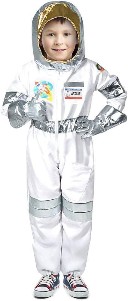 Tacobear Costume Astronaute Enfant avec Astronaute Casque Astronaute Gants D/éguisement Astronaute Accessoires pour Enfant Costume de Jeu de r/ôle Astronaute M