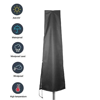 Tfwadmx OffsetUmbrellaCover, Black - CantileverUmbrellaCovers, Waterproof Patio Umbrella Cover, 7ft to 11ft Outdoor Umbrellas Large : Garden & Outdoor