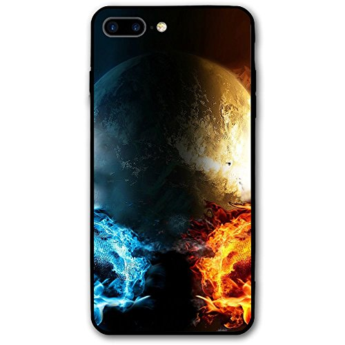 IPhone 8 Plus Case Fire Vs Water Slim Protective Cover Corner Cushion Design ()