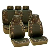 FH Group FB108DARK115 Dark Camo Car Seat Cover (Camouflage Airbag Compatible and Split Bench 2 Tone)