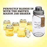 "Smiths Mini Mason Jar set of 6 ""Chupito"" Shot Glasses with Lids - 2oz Per Shot Glass"