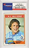George Brett Kansas City Royals Autographed 1981 Topps #700 Card - Fanatics Authentic Certified - Baseball Slabbed Autographed Cards