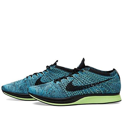 Nike Unisex Flyknit Stria Scarpa Da Corsa Blu Laguna / Nero / Plrzd Blu