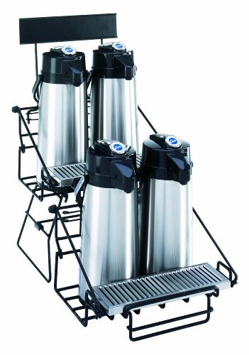 Wilbur Curtis Two-2 Position Wire Airpot Rack - Compact Design with Integral Drip Tray - WR4B0000 (Each) by Wilbur Curtis Airpot Racks 2 Position
