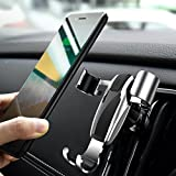 Car Phone Mount, Gravity Cell Phone Holder for car Auto-Clamping Air Vent Car Phone Holder Universal Car Cradle Mount Compatible Phone X/8/7/6s/Plus, Galaxy Note 9/ S9/S9 Plus/S8/S7- Sliver (Divi)