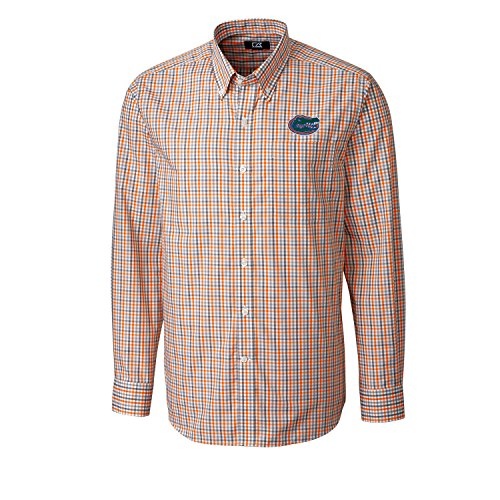 - Cutter & Buck NCAA Florida Gators Men's Long Sleeve Gilman Plaid Shirt, Large, College Orange