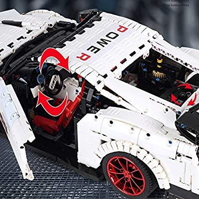 WOLFBSUH Race Car GT3 Building Set STEM Toy, 3358Pcs 1:8 Building Blocks and Engineering Toy Sports Car Model: Toys & Games