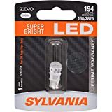 SYLVANIA - 194 T10 W5W ZEVO LED White Bulb - Bright LED Bulb, Ideal for Interior Lighting - Map, Dome, Trunk, Cargo and License Plate (Contains 1 Bulb)