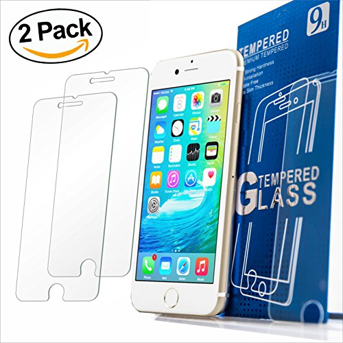 Iphone 7 6s 6 Screen Protector Set of 2 Nicety Tempered Glass Ultra Thin Anti-Scratch Bubbles Free 3D Touch 9H Hardness Maximum Protection Launch Offer (Thin Ultra Glass)